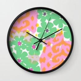 Les Fleurs Wall Clock