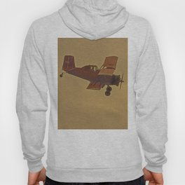 Crop Duster Flying In A Storm Hoody