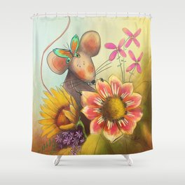 Spring Mouse Shower Curtain