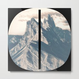 Nr. 0 | Numbers with a View | Typography Letter Art Metal Print