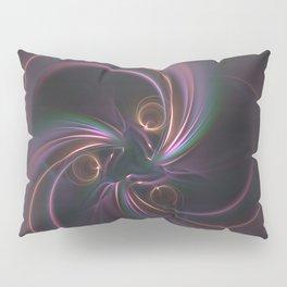 Moons Fractal in Warm Tones Pillow Sham