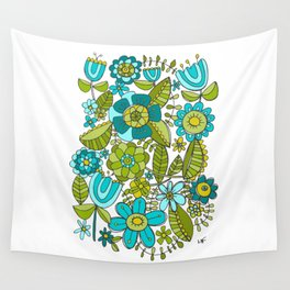 Botanical Doodles Wall Tapestry