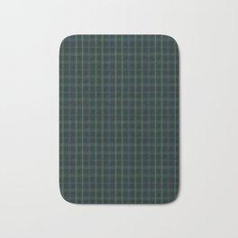 Green and Blue Plaid Bath Mat