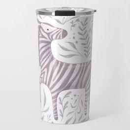 Zebra in Foliage Travel Mug