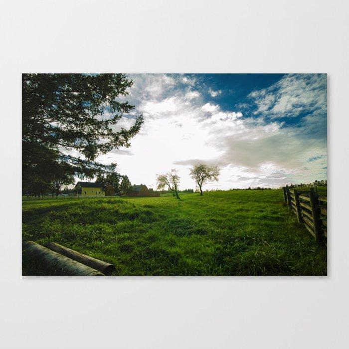 Farm View Canvas Print