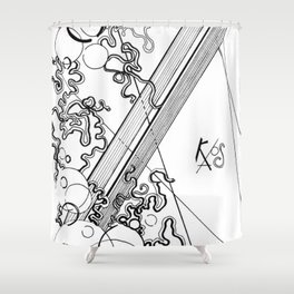 Black and White Chaos Shower Curtain