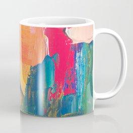 Abstract Art Colorful Vibrant Strong Brush Strokes Coffee Mug