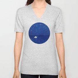Zen sailing, ocean, stars Unisex V-Neck