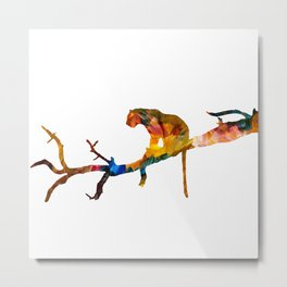 Colourful tiger resting on a tree Metal Print