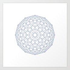 #409 Low-res sphere – Geometry Daily Art Print