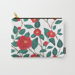Pattern-red camellia Carry-All Pouch