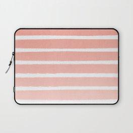 Stripes minimal ombre pattern basic nursery office dorm canvas wall art Laptop Sleeve