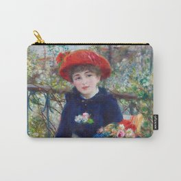 Two Sisters (On the Terrace) (1881) by Pierre-Auguste Renoir Carry-All Pouch