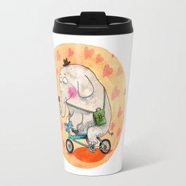 Elephant in love Travel Mug