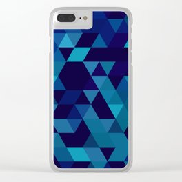 Triangulated Water Clear iPhone Case