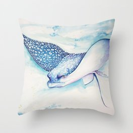 Eagle Ray Throw Pillow
