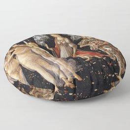 La Primavera - Allegory Of Spring - Sandro Botticelli Floor Pillow