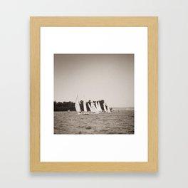 Racing to the Mark Framed Art Print