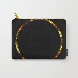 Golden Ring - Minimalistic, gold and black abstract art, metallic gold texture Carry-All Pouch