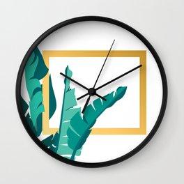 Tropical leafs Wall Clock