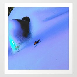 Bug on the blue Art Print