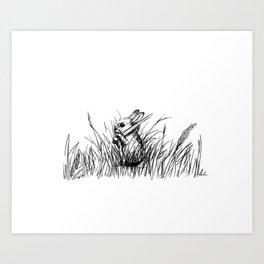 A Bunny. With a Sword. Art Print