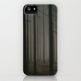 Dark morning forest iPhone Case