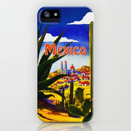 Vintage Mexico Village Travel iPhone Case
