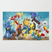 mlp Area & Throw Rugs featuring MLP X-Men by Kimball Gray