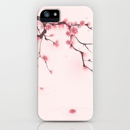 Oriental cherry blossom in spring 002 iPhone Case