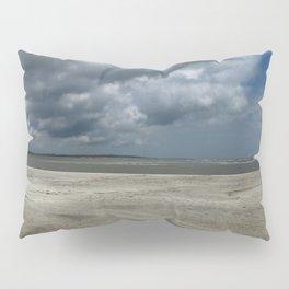 Dramatic Sky Over Golden Isles Beach Pillow Sham