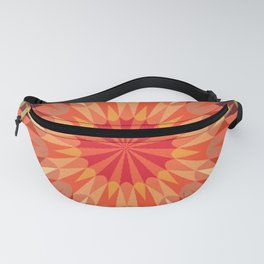 Living Coral Retro Geometry Earth Tones Fanny Pack