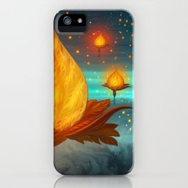 Magical lights iPhone Case