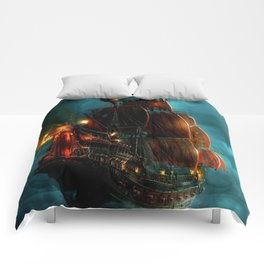 Pirates on sea Comforters