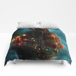 Pirates on sea Comforters