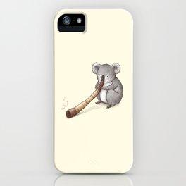 Koala Playing the Didgeridoo iPhone Case