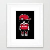 hiphop Framed Art Prints featuring 30Billion - Hiphop Bear 02 by 30Billion