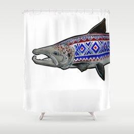 Marius Salmon Shower Curtain