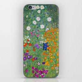 Gustav Klimt Flower Garden Floral Art Nouveau iPhone Skin
