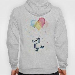 Birthday Panda Balloons Cute Animal Watercolor Hoody