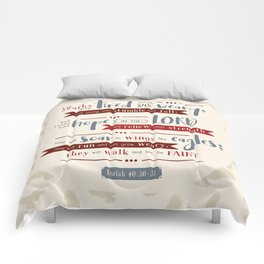 """""""Hope in the Lord"""" Hand-Lettered Bible Verse Comforters"""