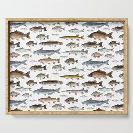 A Few Freshwater Fish Serving Tray