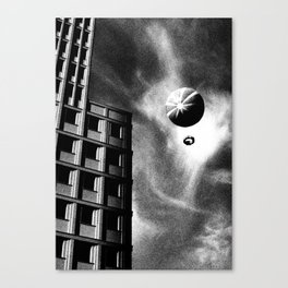 Balloon over Potsdamer Platz in Berlin Canvas Print