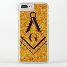 Masonic Symbolism Clear iPhone Case