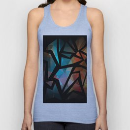 Abstract background of triangles polygon print. Unisex Tank Top