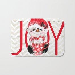 JOY - PEPPERMINT SNOWMAN Bath Mat