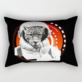 No One Can Hear You Meow in Space Rectangular Pillow