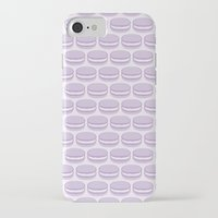 macaroon iPhone & iPod Cases featuring Purple Macaroon Pattern - Lavender Macaron by French Macaron Art Print and Decor Store