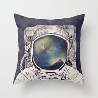 Throw Pillows featuring Dreaming Of Space by Tracie Andrews