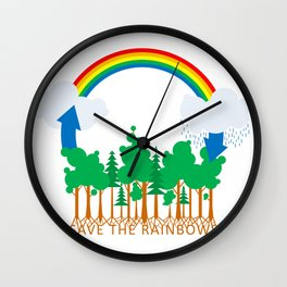 Save the Rainbows Wall Clock
